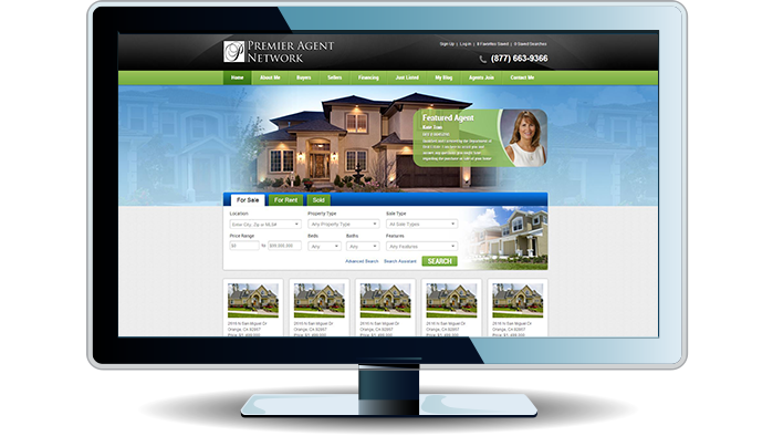 Vista, CA real estate agent website