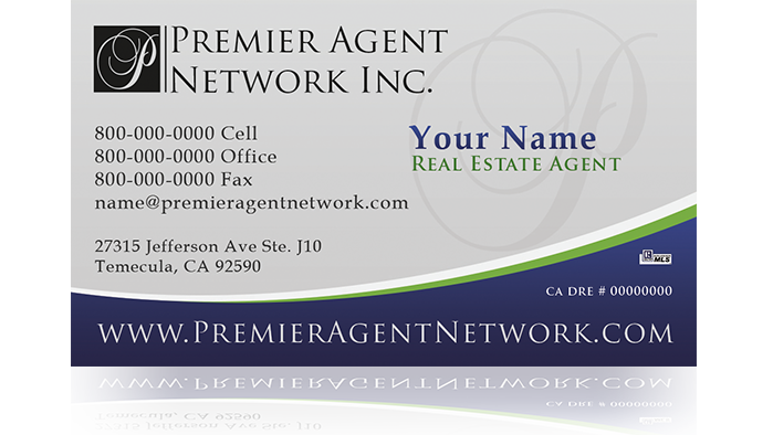 Mello, CA Real Estate Agent Business Cards