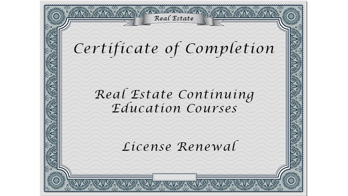 Vollmers, CA Real Estate License Renewal